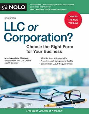 9781413325478-1413325475-LLC or Corporation?: Choose the Right Form for Your Business