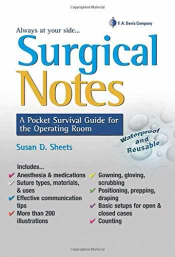 9780803625921-0803625928-Surgical Notes: A Pocket Survival Guide for the Operating Room (Davis's Notes)