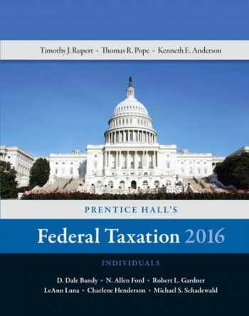 9780134105901-0134105907-Prentice Hall's Federal Taxation 2016 Individuals (29th Edition)