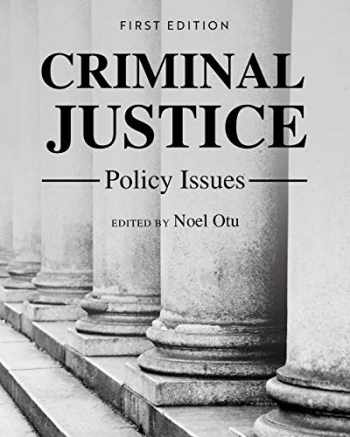 9781516597819-1516597818-Criminal Justice Policy Issues