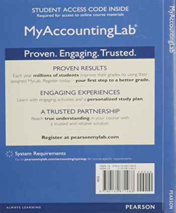 9780133059250-0133059251-NEW MyLab Accounting with Pearson eText -- Access Card -- for Introduction to Management Accounting