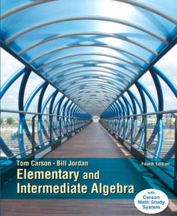 9780321951922-0321951921-Elementary and Intermediate Algebra, Plus NEW MyLab Math with Pearson eText -- Access Card Package (4th Edition) (Carson Developmental Algebra Series)