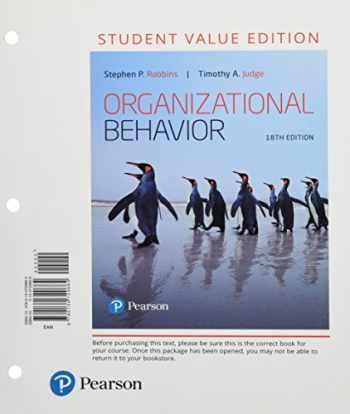 9780134729664-0134729668-Organizational Behavior, Student Value Edition