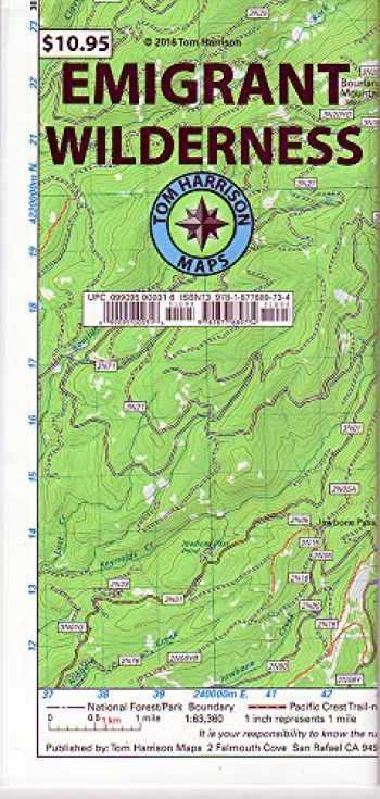 9781877689734-1877689734-Emigrant Wilderness Trail Map (Tom Harrison Maps)