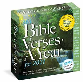 9781523509140-1523509147-365 Bible Verses-A-Year Page-A-Day Calendar 2021