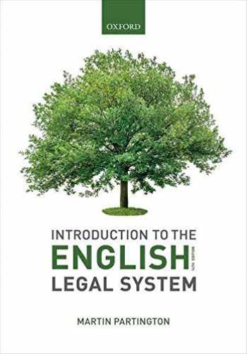 9780198838838-0198838832-Introduction to the English Legal System 2019-2020