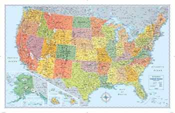 9780528012761-0528012762-Rand McNally Signature United States Wall Map - Laminated
