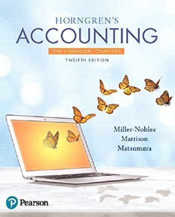 9780134486789-0134486781-Horngren's Accounting, The Financial Chapters (12th Edition)