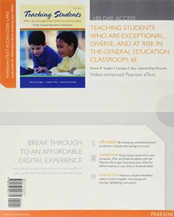 9780133394771-0133394778-Teaching Students Who are Exceptional, Diverse, and At Risk in the General Education Classroom, Video-Enhanced Pearson eText -- Access Card (6th Edition)