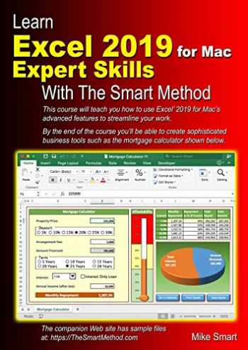 9781909253339-1909253332-Learn Excel 2019 for Mac Expert Skills with The Smart Method: Tutorial teaching Advanced Techniques