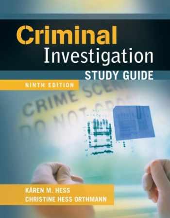 9781435469969-1435469968-Study Guide for Criminal Investigation