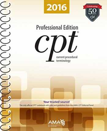 9781622022045-1622022041-CPT 2016 Professional Edition (Current Procedural Terminology, Professional Ed. (Spiral)) (Current Procedural Terminology (CPT) Professional)