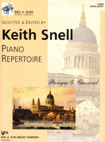 9780849762383-0849762383-GP608 - Piano Repertoire Baroque & Classical Level Eight