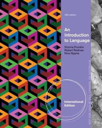 9781285079806-1285079809-An Introduction to Language, International Edition