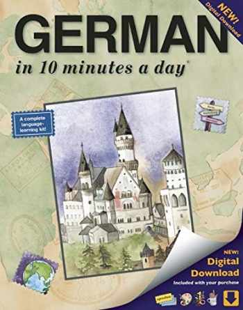 9781931873314-1931873313-GERMAN in 10 minutes a day: Language course for beginning and advanced study. Includes Workbook, Flash Cards, Sticky Labels, Menu Guide, Software, ... Grammar. Bilingual Books, Inc. (Publisher)