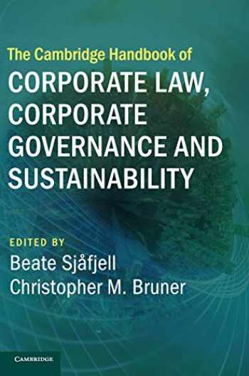 9781108473293-1108473296-The Cambridge Handbook of Corporate Law, Corporate Governance and Sustainability (Cambridge Law Handbooks)