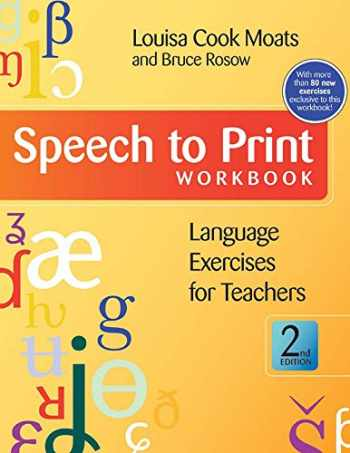 9781598571622-1598571621-Speech to Print Workbook: Language Exercises for Teachers, Second Edition
