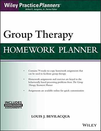 9781119230656-1119230659-Group Therapy Homework Planner, with Download eBook (Wiley Practiceplanners)