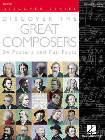 9781480355767-1480355763-Discover the Great Composers (Set of 24 Posters): Poster Pack