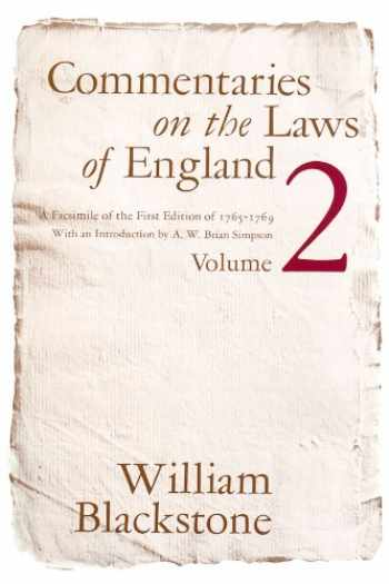 9780226055411-0226055418-Commentaries on the Laws of England Vol.2