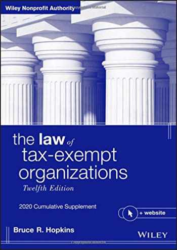 9781119639213-1119639212-The Law of Tax-Exempt Organizations: 2020 Cumulative Supplement (Wiley Nonprofit Authority)