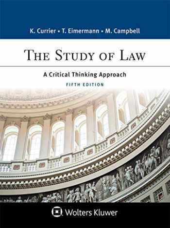 9781454896265-1454896264-The Study of Law: A Critical Thinking Approach (Aspen Paralegal) (Aspen College)