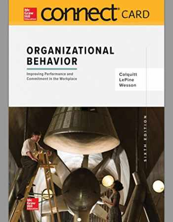 9781260157956-1260157954-Connect 1-Semester Access Card for Organizational Behavior