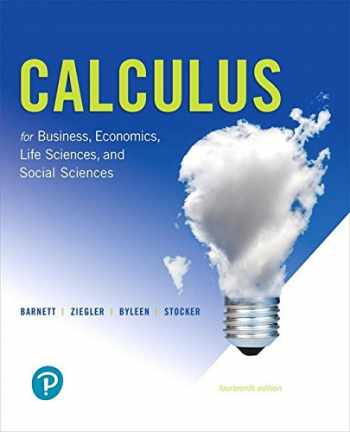 9780134668574-013466857X-Calculus for Business, Economics, Life Sciences, and Social Sciences (14th Edition)