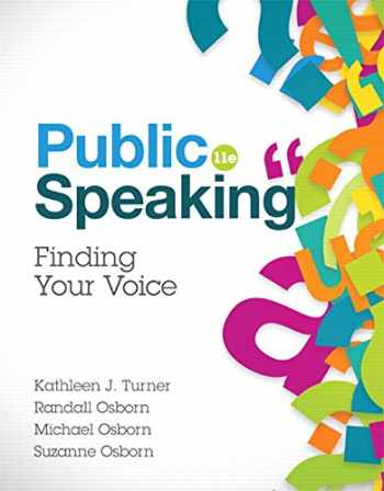 9780134380926-0134380924-Public Speaking (11th Edition)