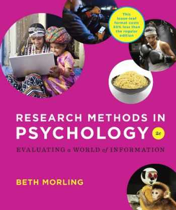 9780393906103-0393906108-Research Methods in Psychology: Evaluating a World of Information