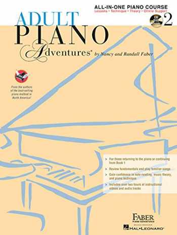 9781616773328-1616773324-Adult Piano Adventures All-in-One Lesson Book 2: Book with CD, DVD and Online Support