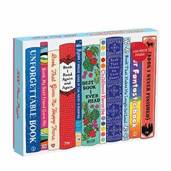 9780735348806-0735348804-Galison Ideal Bookshelf 1000 Piece Jigsaw Puzzle for Adults and Families, Illustrated Bookshelf Puzzle with Relatable Book Titles (9780735348806)