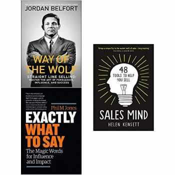 9789123783335-9123783338-Way of the Wolf, Exactly What to Say, Sales Mind [Hardcover] 3 Books Collection Set