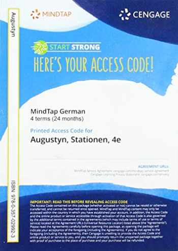 9780357029923-0357029925-MindTap for Augustyn/Euba's Stationen, 4 terms Printed Access Card