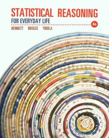 9780321890139-0321890132-Statistical Reasoning for Everyday Life Plus NEW MyStatLab with Pearson eText -- Access Card Package (4th Edition) (Bennett Science & Math Titles)
