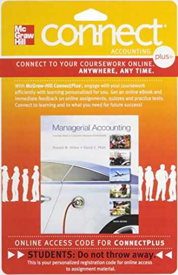 9780077632465-007763246X-Connect 1-Semester Access Card for Managerial Accounting: Creating Value in a Dynamic Business Environment