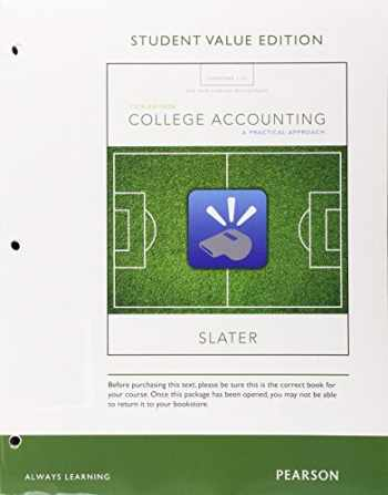 9780134089058-0134089057-College Accounting Chapters 1-12 with Study Guide and Working Papers, Student Value Edition Plus MyLab Accounting with Pearson eText -- Access Card Package (13th Edition)