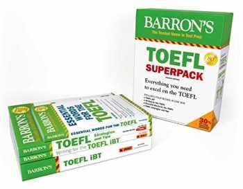 9781438078847-1438078846-TOEFL iBT Superpack: 4 Books + Practice Tests + Audio Online (Barron's Test Prep)