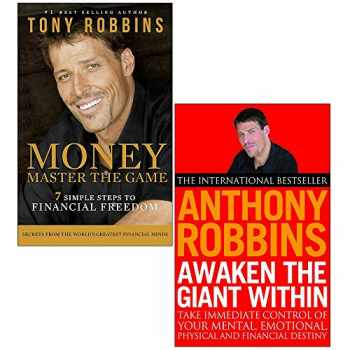 9789123859382-9123859385-Tony Robins 2 Books Collection Set (Awaken The Giant Within: How to Take Immediate Control of Your Mental, Emotional, Physical & Money Master the Game:7 Simple Steps to Financial Freedom)