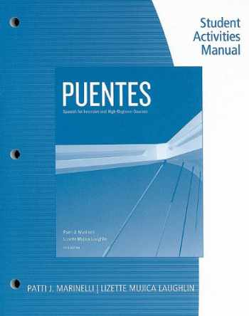9780495901990-0495901997-Student Activity Manual for Marinelli/Laughlin's Puentes
