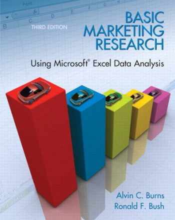9780135078228-0135078229-Basic Marketing Research: Using Microsoft Excel Data Analysis, 3rd Edition