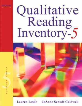 9780137019236-0137019238-Qualitative Reading Inventory (5th Edition)