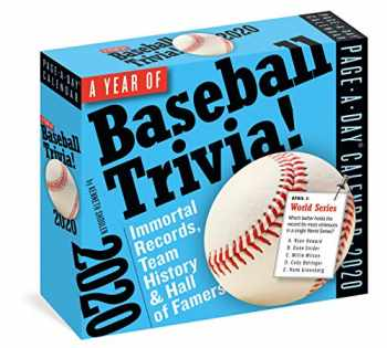 9781523506088-1523506083-A Year of Baseball Trivia! Page-A-Day Calendar 2020: Immortal Records, Team History & Hall of Famers