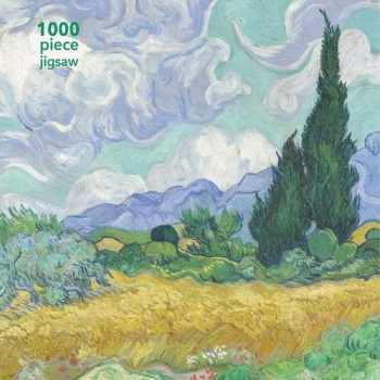 9781787558885-1787558886-Adult Jigsaw Puzzle Vincent van Gogh: Wheatfield with Cypress: 1000-piece Jigsaw Puzzles