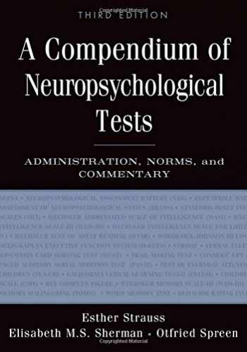 9780195159578-0195159578-A Compendium of Neuropsychological Tests: Administration, Norms, and Commentary