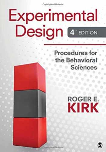 9781412974455-1412974453-Experimental Design: Procedures for the Behavioral Sciences