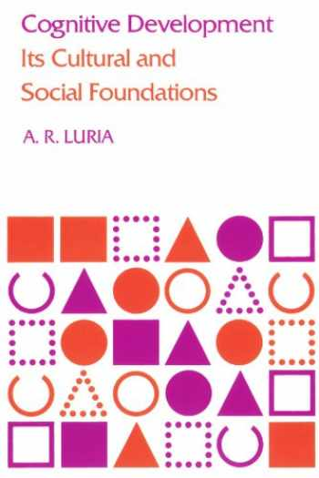 9780674137325-0674137329-Cognitive Development: Its Cultural and Social Foundations