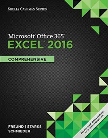 9781305870727-1305870727-Shelly Cashman Series Microsoft Office 365 & Excel 2016: Comprehensive