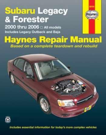 9781563926198-1563926199-Subaru Legacy & Forester, 2000-2006 (Haynes Repair Manuals)