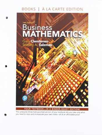9780135239230-0135239230-Business Mathematics Loose-Leaf Edition Plus MyLab Math with Pearson eText -- 24 Month Access Card Package (14th Edition)